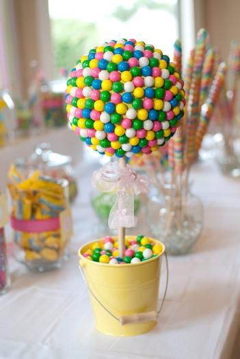 Gum Ball Topiary. Baby Shower CenterpiecesCenterpiece ...