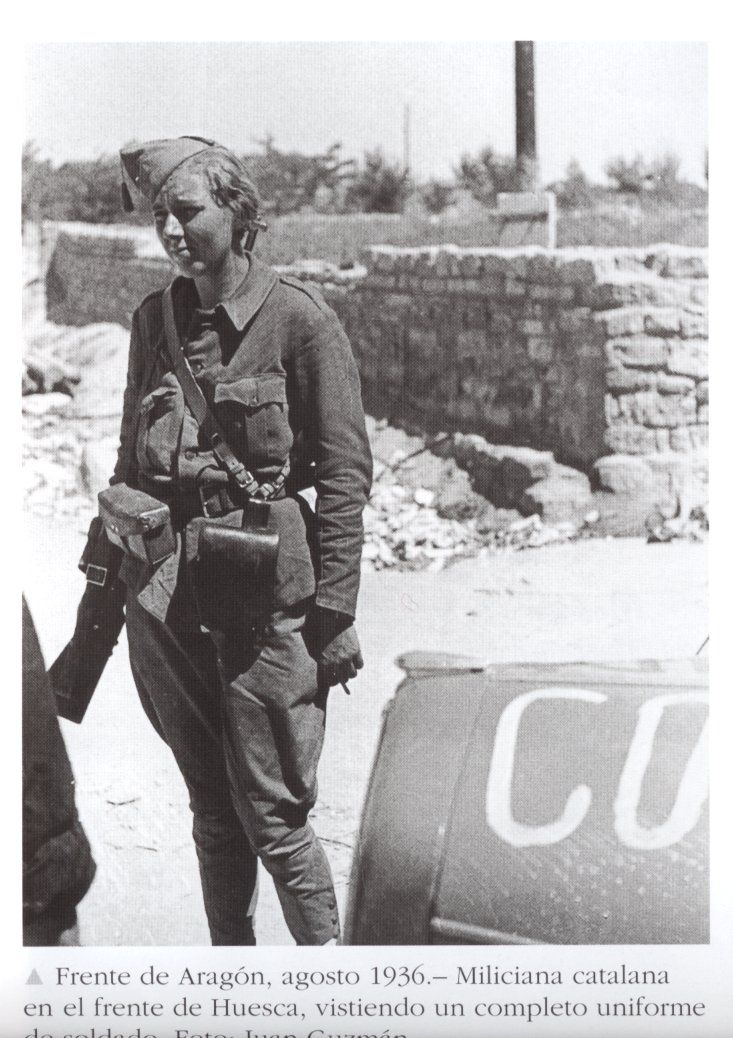 Miliciana catalana en el frente de Huesca. Guerra Civil española - Visit to grab an amazing super hero shirt now on sale
