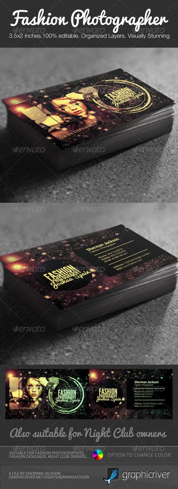 Best 25 photographer business cards ideas on pinterest creative fashion photographer business card psd magicingreecefo Images