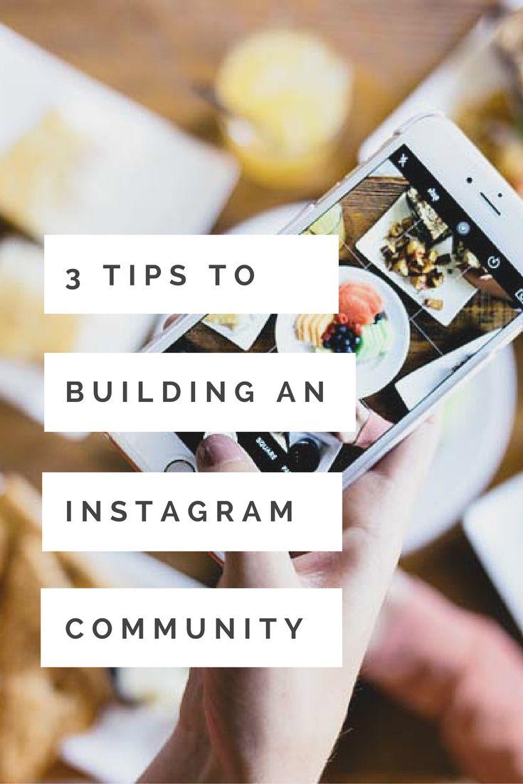 How to build and grow your Instagram community #blogsociety #socialmedia