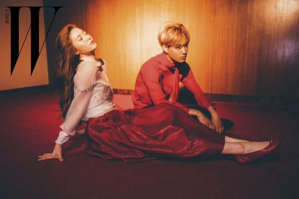 f(x) Krystal and EXO Kai - W Magazine August Issue '15