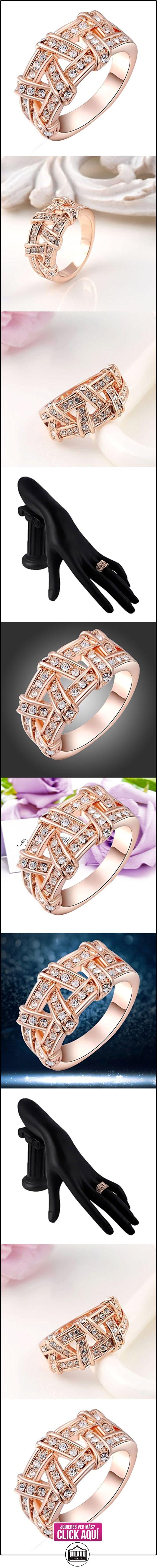 2015 Fashion Pretty con anillo de velcro de boda joyería Classic de mujer Fancy Lady Rose de los anillos trenzado dorado talla Q  ✿ Joyas para mujer - Las mejores ofertas ✿ ▬► Ver oferta: https://comprar.io/goto/B00N9X7AU8