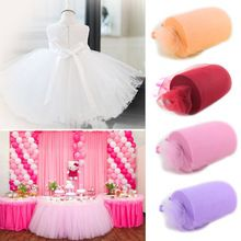6inch*100yard Tulle Roll Spool Fabric Tutu DIY Skirt Gift Craft Party Bow Tulle Rolls  Wedding Party Decoration DIY Tutu Fabric(China)