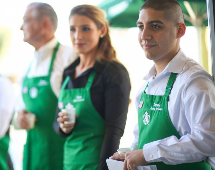 Starbucks Armed Forces Network, an internal veteran group, shared the following message about Starbucks commitment to hiring veterans and spouses.