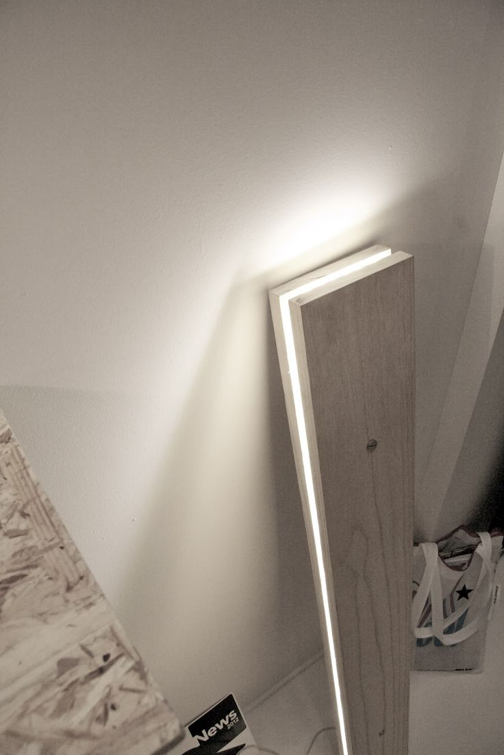 Two boards with LEDs in middle! Awesome and easy to make! Would make a cool kid's headboard