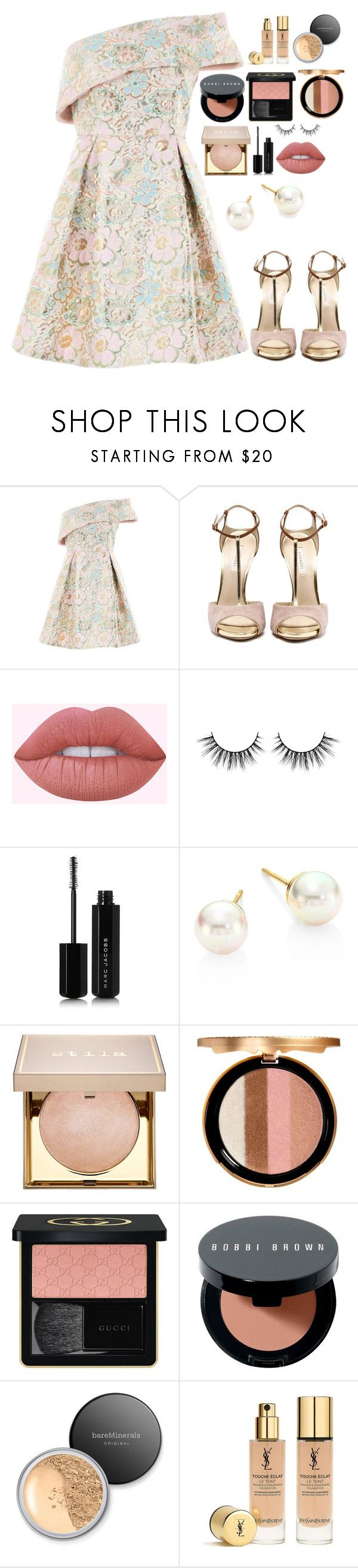 """""""Untitled #8701"""" by gabriellewidger ❤ liked on Polyvore featuring Topshop, Lime Crime, Marc Jacobs, Majorica, Stila, Too Faced Cosmetics, Gucci, Bobbi Brown Cosmetics, Bare Escentuals and Yves Saint Laurent"""