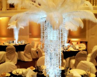 Feather Centerpieces Supplies Ostrich Feathers by HautePartyCraft