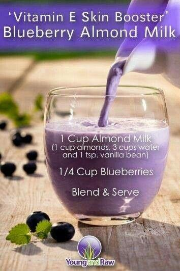 Skin health booster - blueberry shake - YUM!!
