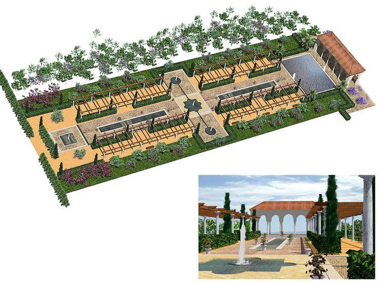 Fotorrealismo de un jardin arabe tecnicas de for Jardin hispano mauresque