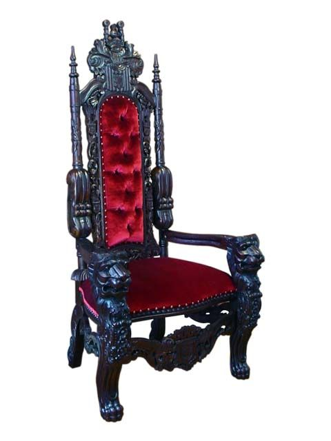 This stunning Mahogany King Lion Throne Chair from #sokokayu will be a center attention in any room.