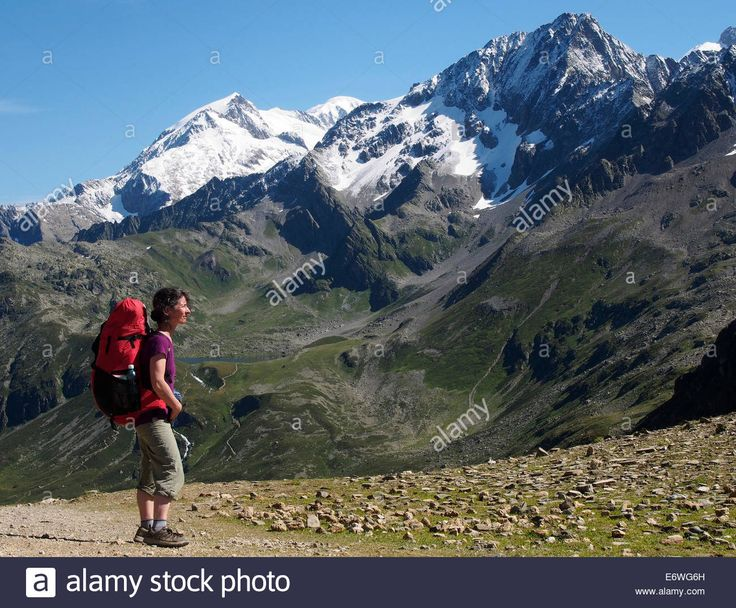 Day 2c: Tour of Mont Blanc, Col du bonhomme, Alps, France Stock Photo ...