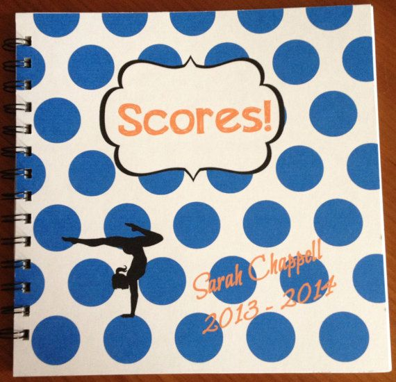 Gymnastics Score Book/Meet Book Custom Designed by SayItInPrint, $25.00