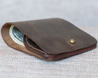 Leather Wallet SimpleFREE SHIPPING leather by NicholasLeatherWorld