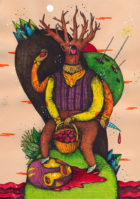 with tree and head by saddo, via Flickr