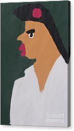 Canvas Print featuring the painting Portrait Of A Woman With Red Ribbon 2014 - After Vincent Van Gogh by Patrick Francis