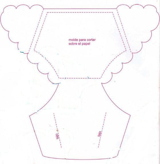 Invitación con forma de pañal para Baby Shower