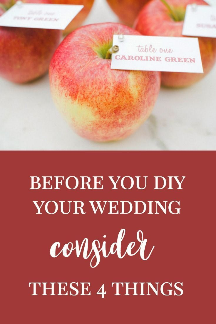 Think you are prepared to DIY your wedding? We have some things you need to consider before you jump into DIY-ing your big day - click through to the blog #weddingdaydetails #diywedding #diyweddingideas