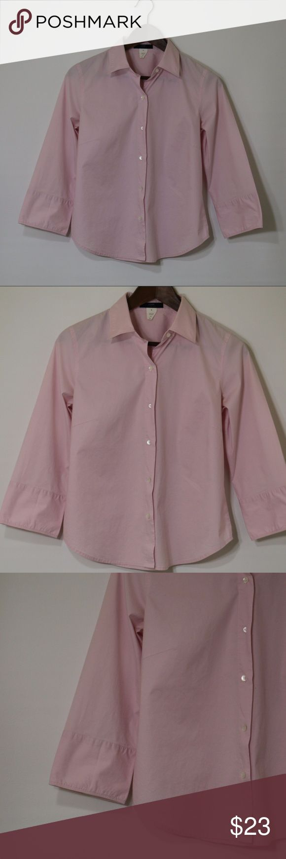 J.Crew button down pink polo shirt J.Crew button down pink polo shirt 98%cotton 2%spandex made in china  B-79 J.Crew Tops Button Down Shirts