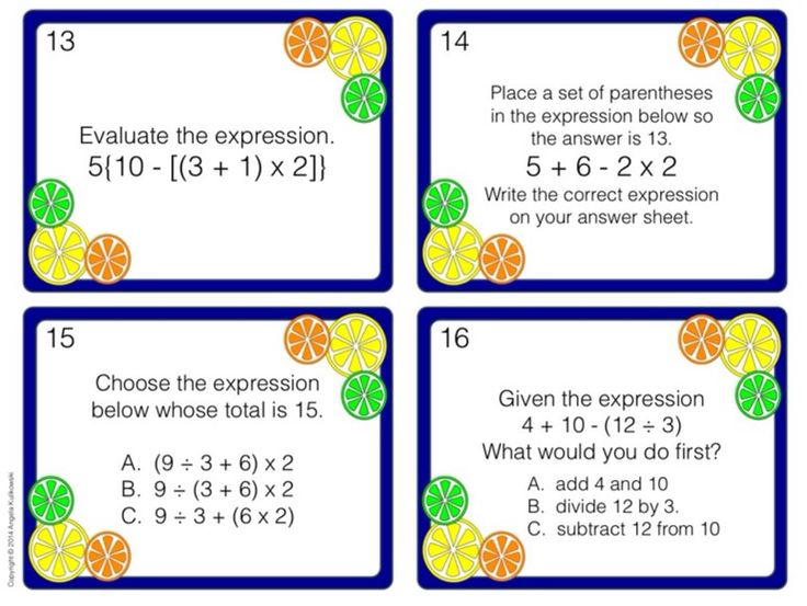 70 best Order of Operations images on Pinterest Order of - order of operations worksheet