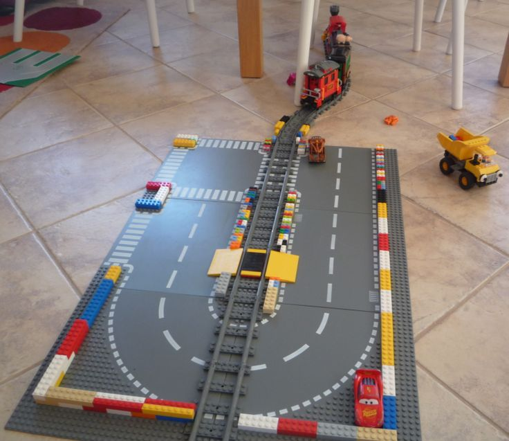 Train and Car by Lego, Road by Eliáš.
