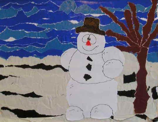 Sneeuwlandschap - Knutselen!