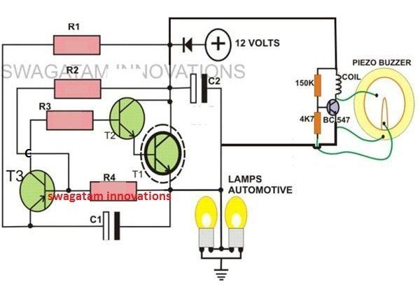A Simple Construction Procedure Of A Motorcycle Electronic 2 Pin Turn Signal Indicator With Beeper Circuit Has Bee Circuit Projects Circuit Electronics Circuit