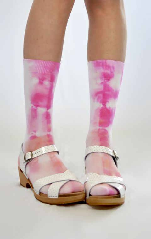 """""""Rose Parade"""" Tie Dyed Socks.  Super soft 100% cotton, Made in Melbourne @Ghostly"""