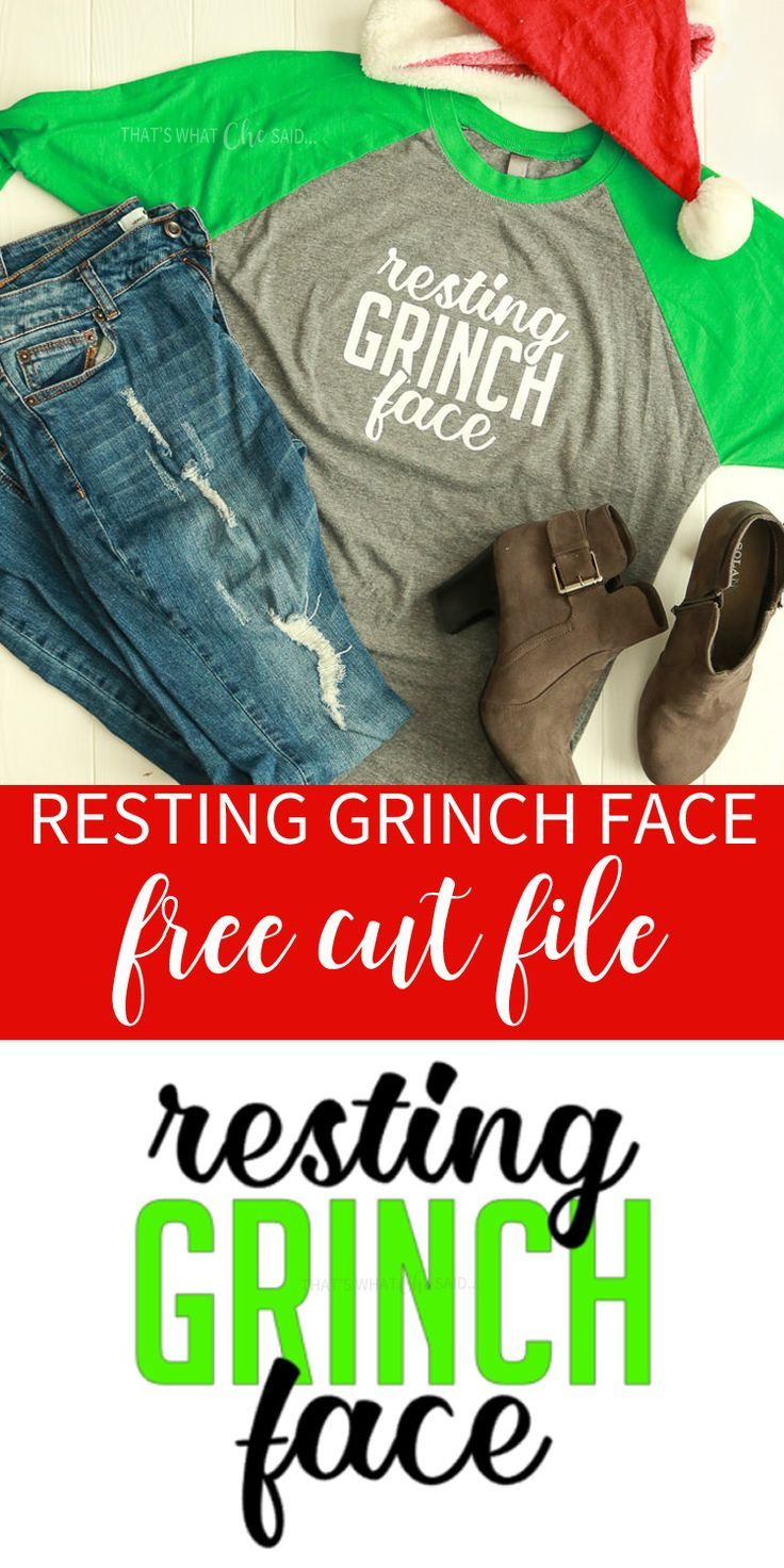 Get your grinch on with this this free svg cut file! Downloand it for free and add your favorite shirt and you have the perfect holiday shopping outfit!