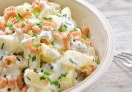 Aardappelsalade met hollandse garnalen | Recept | KookJij