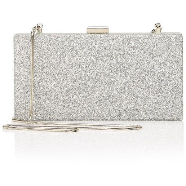 MISTY RECTANGLE CLUTCH BAG (380 MXN) ❤ liked on Polyvore featuring bags, handbags, clutches, metallic clutches, white clutches, white handbag, strap purse and magnetic closure handbags