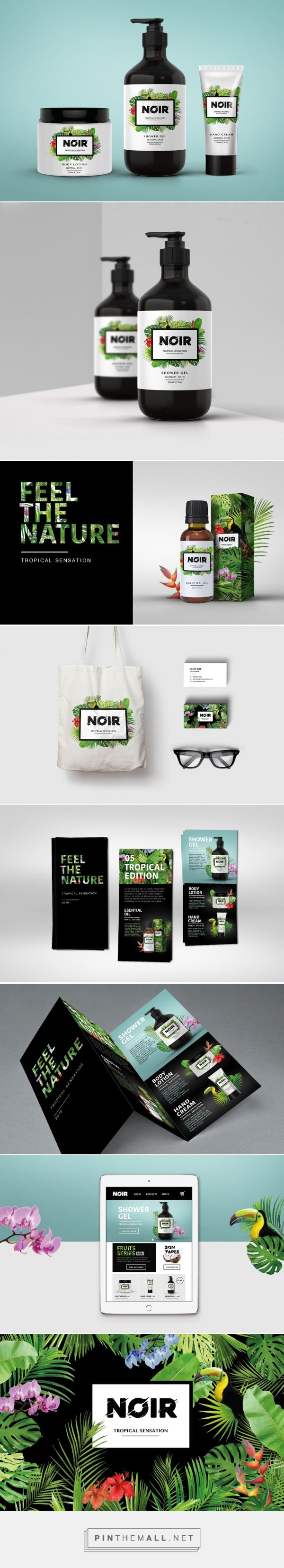 NOIR cosmetic packaging concept designed by Orsolya Hegedus (UK) - http://www.packagingoftheworld.com/2016/04/noir-packaging-concept.html