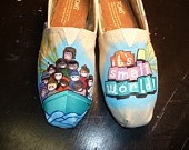 I want every single pair of these hand-painted shoes!: Disney Stuff, Disney Shoes, Custom Hands, Hands Paintings Shoes, Hand Painted Shoes, Custom Paintings Shoes, Design Shoes Bags Etc, Disney Paintings Toms, Disney Toms