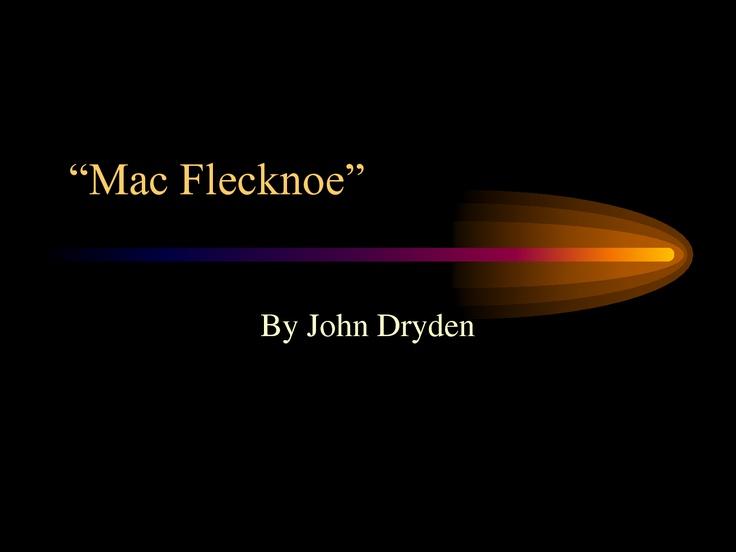 Mac Flecknoe John Dryden
