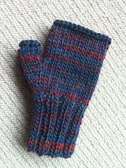 Basic Gloves Knitting Pattern : Basic Fingerless Mittens - Ive made the first of a pair of these and the...