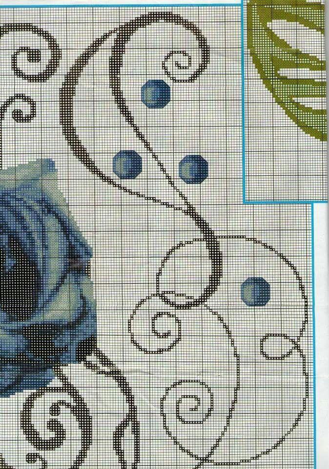 runner blu roses 3