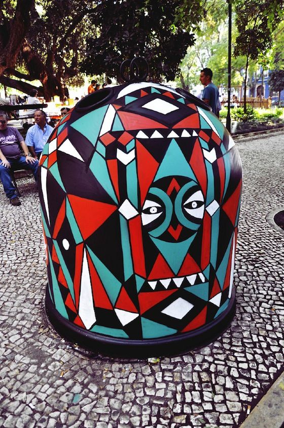 Best TRASH CAN DIY Images On Pinterest Street Art - Street artist turns street furniture into characters