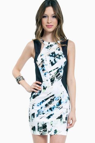 Abstrack Bodycon Dress $62 at www.tobi.com