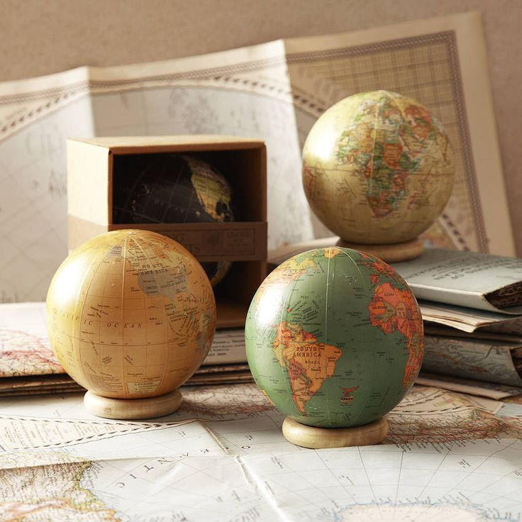 vintage style globes by posh totty designs interiors | notonthehighstreet.com