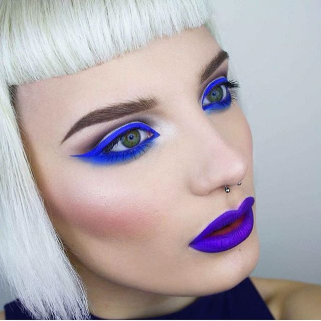 Electric babe @pennold wearing #sugarpill Velocity blue ...