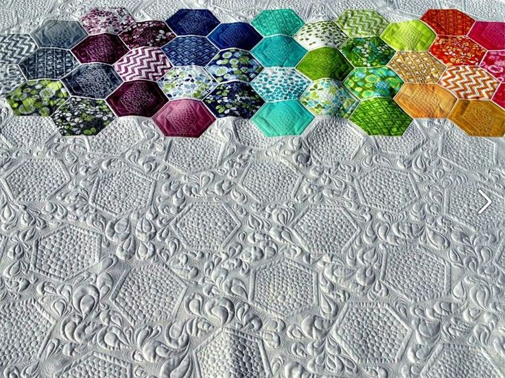 13 best Machine Quilting - Hexagons images on Pinterest | Machine ... : best machine for quilting - Adamdwight.com