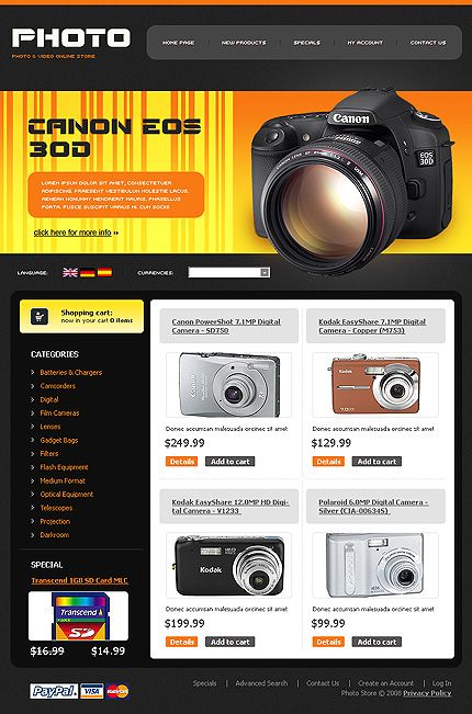 Photo & osCommerce Templates by Di