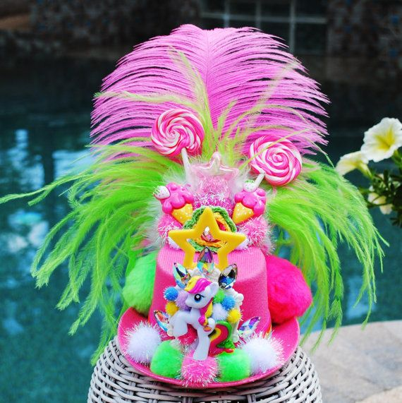My Little Pony Mini Top Hat Fascinator by Fabulouslyflamboyant, $45.00