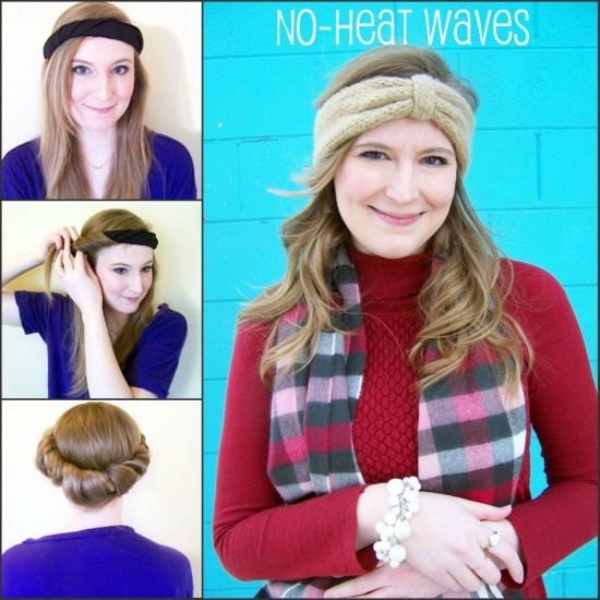 A tutorial on how to get wavy-to-curly hair with no heat! Super super simple!!