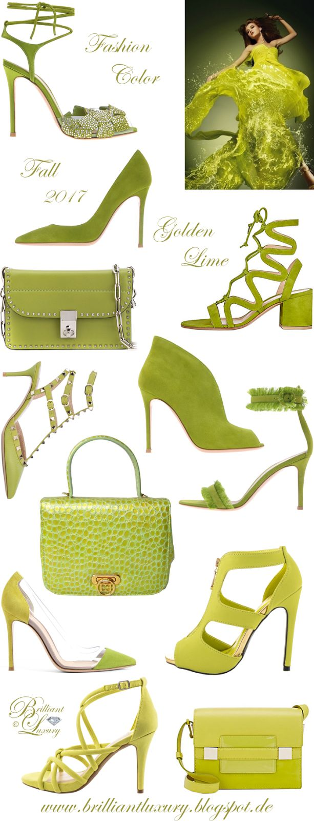 Brilliant Luxury by Emmy DE ♦ Fashion Color Fall 2017 ~ golden lime