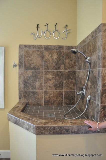 Doggy shower ~ from Evolution of Style: Homearama 2013: House Tour #6