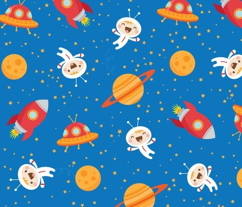 25 best space illustration inspiration images on pinterest for Kids space fabric
