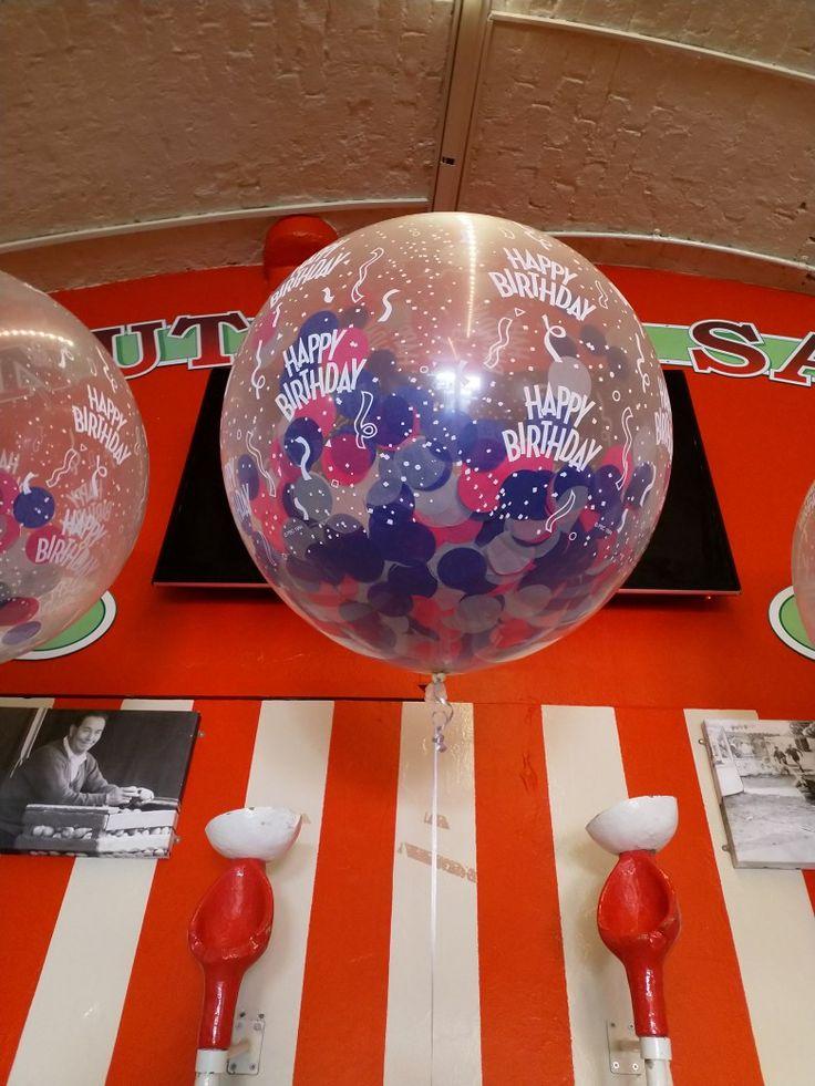 Confetti balloons for a birthday balloon confetti