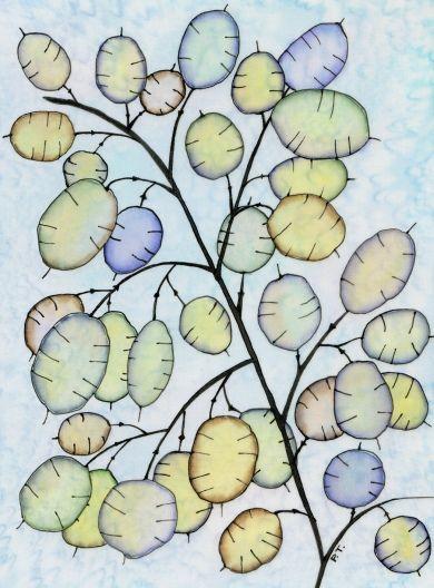"""Honesty"" by Pauline Townsend - Silk Painter 2011"