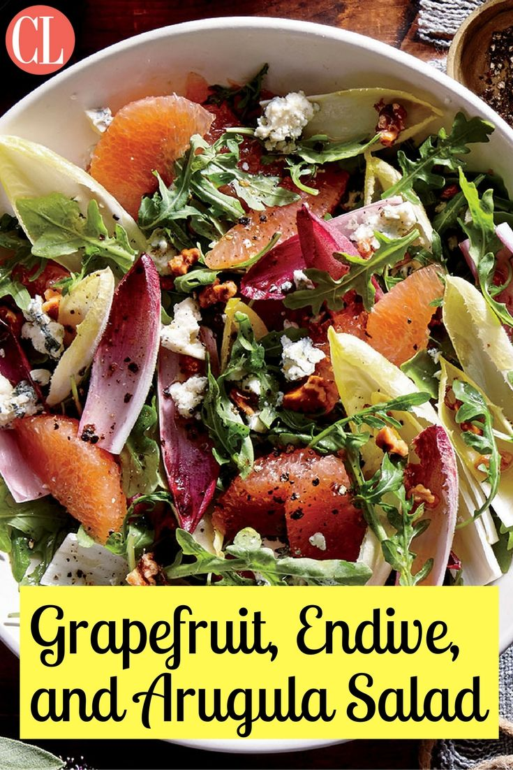 Grapefruit combines with seasonal greens like endive and arugula to create a savory fall salad. | Cooking Light