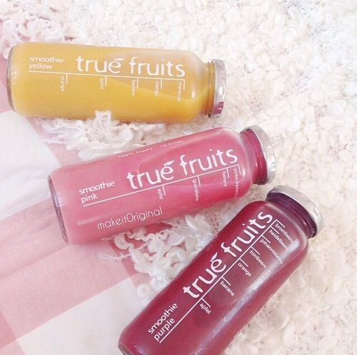 Image via We Heart It https://weheartit.com/entry/150886643 #berries #colors #drink #fit #fun #healthy #pink #smoothies #yellow #yum #yummy #instagram #truefruits #makeit0riginal